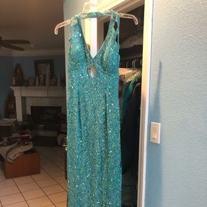Blue formal dress